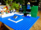 Tennis arcade ze stavebnice LittleBits